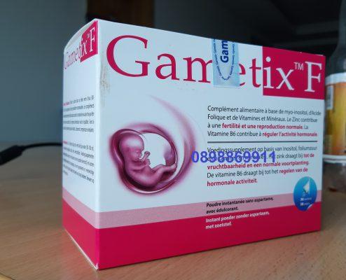 Mẫu sản phẩm cùng tem chính hãng của gametix F