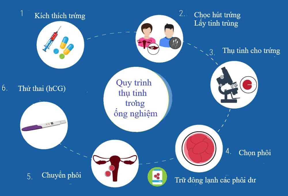 quy trình làm thụ tinh ống nghiệm