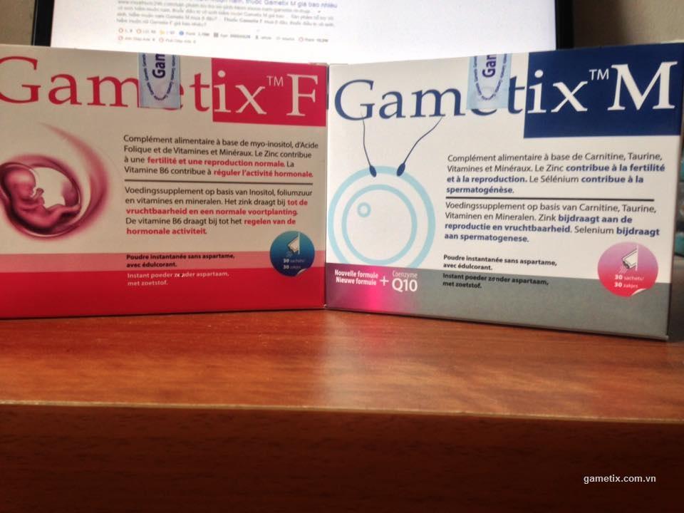 Thuốc gametix M và thuốc gametix F chính hãng