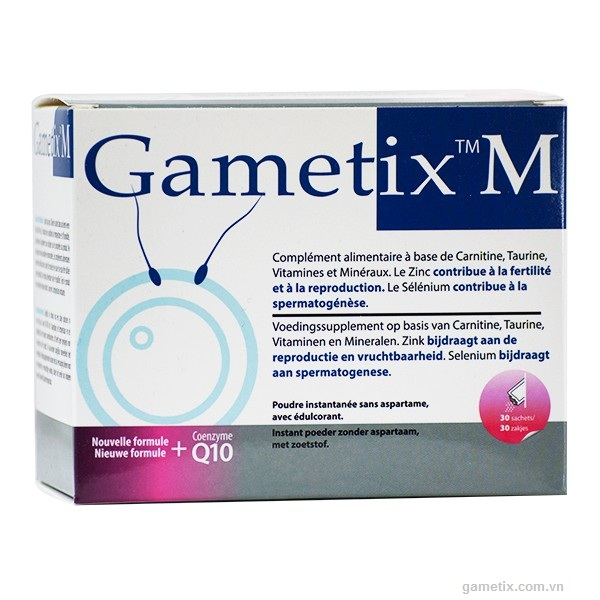 Thuốc gametix M hỗ trợ sinh sản nam giới